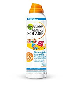 Garnier Ambre Solaire Sensitive Expert+ Enfant Brume Sèche Anti-Sable FPS 50+ 200 ml Lot de 2