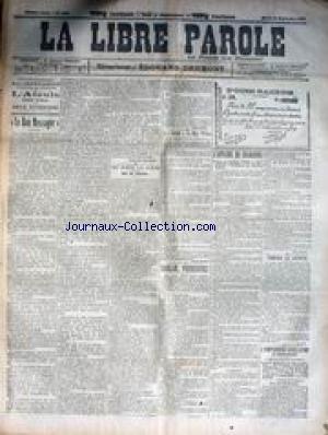 LIBRE PAROLE (LA) [No 1289] du 30/10/1895 - LA CRISE AFFAIRE DE NAYVE - LA DISPARITION DE MENALDO - LE DOCTEUR LUEGER - MGR BOURRET - L'HOMME DE BOET.