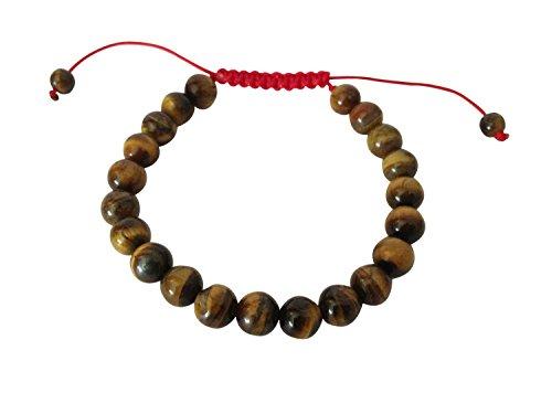 Hände von Tibet Tibet Mala Tiger Eye Handgelenk Armband für Meditation (Uni)