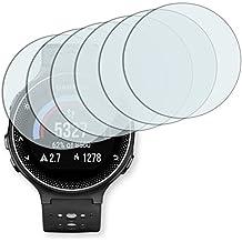 "6 x protectores pantalla Golebo para Garmin Forerunner 230. Lámina protectora adhesiva invisible ""Crystal Clear"". Fabricado en Alemania."
