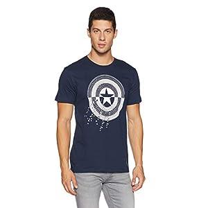 Batman By Free Authority Men's Printed Regular Fit T-shirt