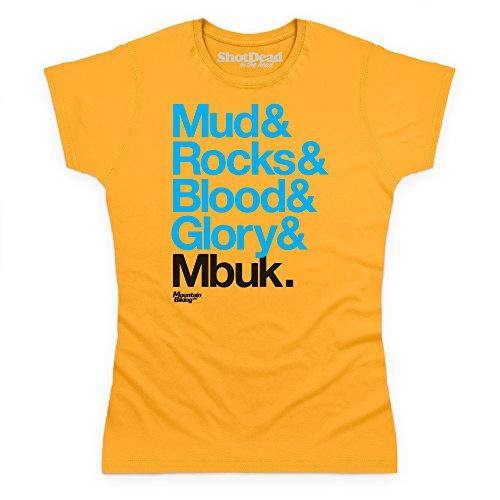 Mud Rocks T-Shirt, Damen Gelb