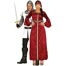 Fancy Me COPPIA Ladies & Mens MEDIEVALE Noble Knight & ROSSO RINASCIMENTO Princess Gothic STORICO St.George EROE COSTUME COSTUMI, OUTFIT - UK 18-20 - Mens Medium