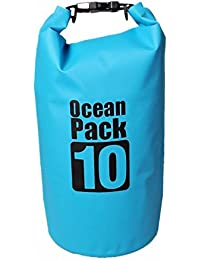Getko 10 Liter Heavey-Duty PVC WaterProof Ocean Pack Dry Bag Sack for Kayaking - Boating - Canoeing - Fishing - Rafting - Swimming - Camping - Snowboarding