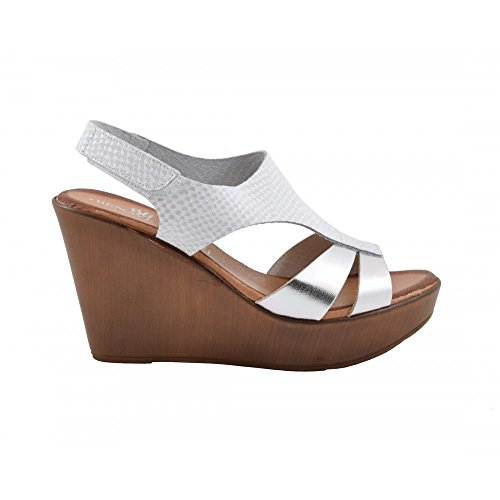 Benavente , Damen Sandalen Weiß / Silber