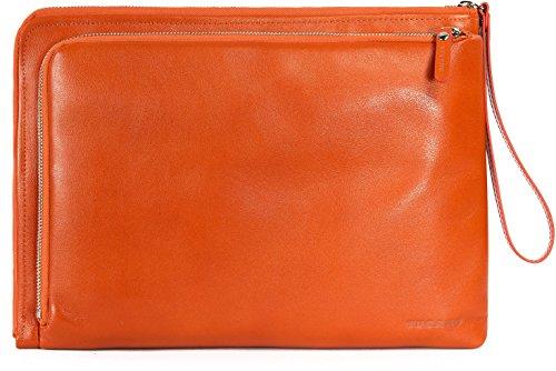 Tucano Elle Damen Notebooktasche (aus Leder geeignet für 13 Zoll) orange (Elle Tasche)