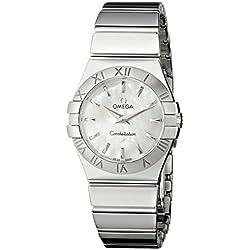 Omega–Reloj de pulsera analógico para mujer cuarzo acero inoxidable 12310276005002