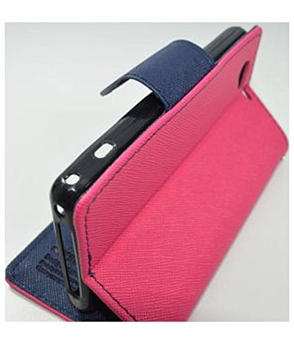 Brand Affairs Luxury Mercury Goospery Fancy Diary Wallet Flip cover For Sony Xperia M Experia Dual (1905)PINK WITH BLUE FLIP  available at amazon for Rs.249