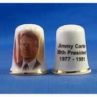 En porcelaine anglaise de collection avec dé Jimmy Carter 39e président États-Unis