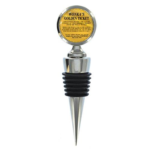 Gold Winning Ticket Design Wein Flasche Stopper