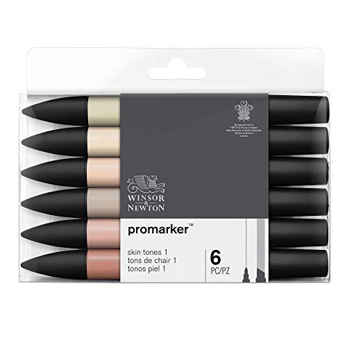 Winsor & Newton Promarker - 6 pennarelli Toni Tinta Carne 1