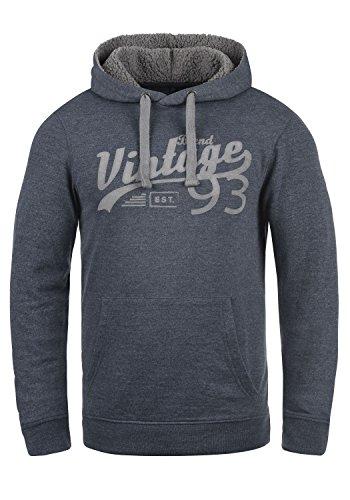 Blend Vince Teddy Herren Kapuzenpullover Hoodie Sweatshirt Mit Teddy-Futter Meliert, Größe:M, Farbe:Navy Teddy (74653)