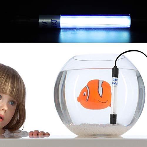 Qinlorgo Luz de esterilizador de Acuario, Tanque de Peces de Acuario a Prueba de Agua Lámpara de esterilizador...