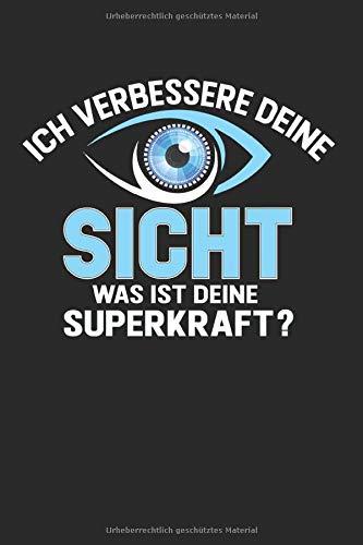 Ich Verbessere Deine Sicht: A5 Notizbuch kariert für für Augenoptiker | Optiker Geschenkidee