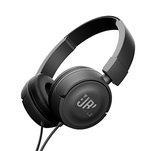 JBL T450 On-Ear Headphones with Mic (Black)