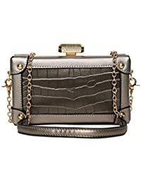 Elle Silver Sling Bag For Women- LS-6239-SGRY