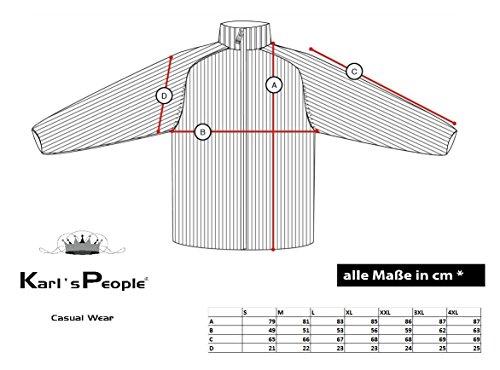 Karl's People Herren Strickjacke mit Kapuze K-115 Black