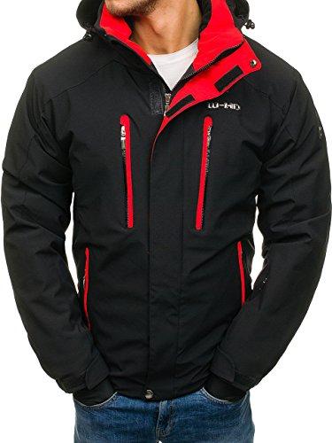 BOLF Herren Winterjacke mit Reißverschluss Skijacke Sportlicher Stil WALKHARD 2283 Schwarz XXXL [4D4]