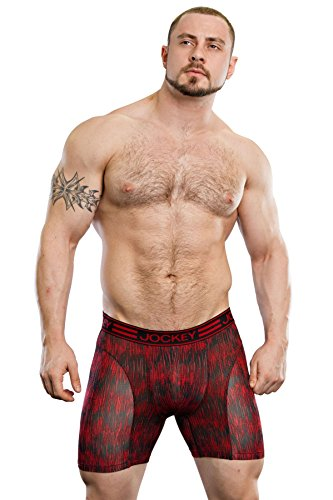 Jockey Herren Retroshort, Einfarbig * True Red