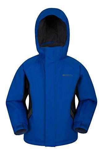 Mountain Warehouse Chaqueta para la Nieve Raptor para niños - Abrigo de Invierno Impermeable a la Nieve, Abrigo con Forro Polar para niños, faldón antinieve Integrado Azul 9-10 Años