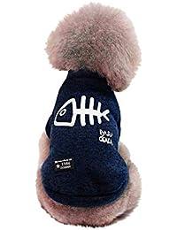 Ropa para Perros, Gusspower Perro Mascota Cachorro clásico suéter Polar suéter Ropa Caliente suéter de Invierno
