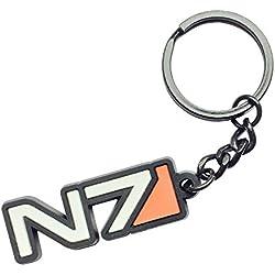 Llavero de Mass Effect logo N7 11,7cm negro
