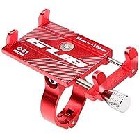 Ligera aleación de Aluminio MTB Bike Mount Bicicleta Soporte para teléfono Soporte Bicicleta Manillar Holder Rack Ciclismo Accesorios - Rojo