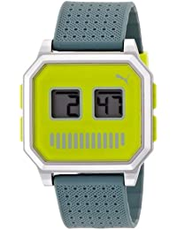 PUMA PU910951014 - Reloj digital de cuarzo unisex con correa de plástico, color verde