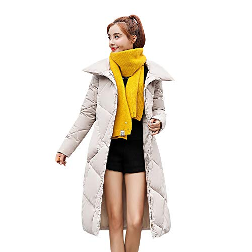 SEWORLD Winterjacke Damen Lange Daunenjacke Jacke Outwear Frauen Winter Warm Daunenmantel Lose...