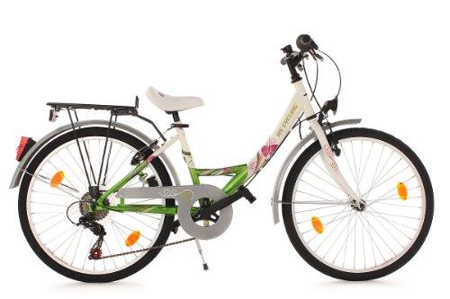 KS CYCLING PAPILIO   BICICLETA INFANTIL  COLOR BLANCO  RUEDAS 24  CUADRO 36 CM