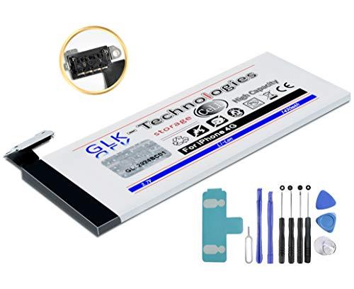 35% BILLIGER // Original GLK-Technologies® // Akku mit 1430 mAh // kompatible mit Apple iPhone 4 // inkl. Werkzeug Set Kit Geld ZURÜCK GARANTIE !