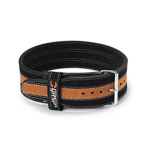 GASP Kraft-Rückengurt Power Belt - Kraft-Gürtel für Fitness- & Kraft-Training, Größe:M, Farbe:schwarz/orange