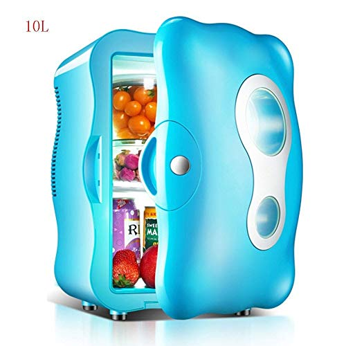 Gas-single Kühlschrank (DLINMEI 4L Auto Mini-Kühlschrank, Kleinhaus Single Door Refrigeration Micro Cooler, für Auto, Studentm, Schlafsaal (Color : Blue))
