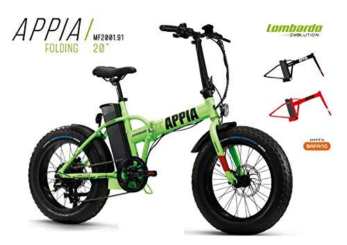Cicli Puzone Bici Lombardo APPIA Folding Fat Bike 20 BAFANG Gamma 2019 (Green Black Matt)