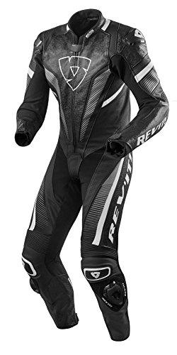 REVIT SPITFIRE Herren Motorrad Lederkombi einteiler - schwarz weiss Größe 54