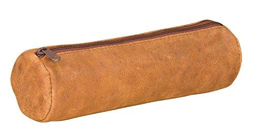 Elba 400033035 Trousse forme rond en cuir 22 x diamètre 6 cm Vintage