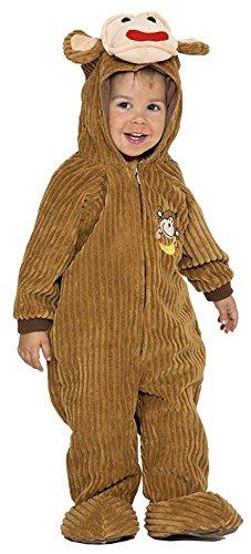 - Größe 92-104 cm (2-3 Jahre) (Zirkus Affe Kostüm)