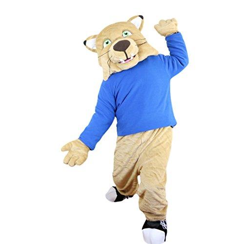 (Langteng Sport Beige Tiger Löwe Leopard Wild Cat Cartoon Maskottchen Kostüm Echt Bild 15–20Tage Marke)