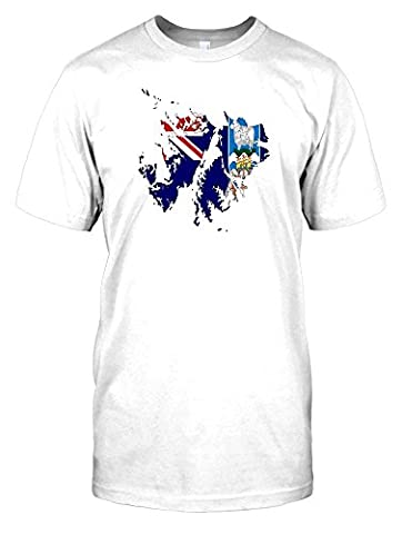 Flag Map of the Falkland Islands Kids T Shirt - white - Kids 09-11 Years
