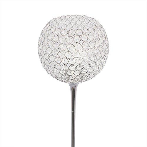 SXFR-ZN Crystal Stehleuchte Moderne Suppore LED E27 Sconce Kristall Licht Foyer Lampen Schatten Home Decor Leuchte Studie Raum Beleuchtung zu Hause ( Farbe : Chrom-Weißes Licht )