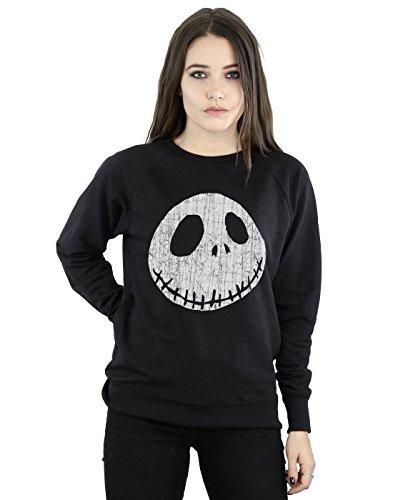 Disney Damen Nightmare Before Christmas Jack Cracked Face Sweatshirt XX-Large Schwarz (Christmas-pullover Before Nightmare)