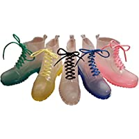 Baxter & Bramble Festival Wellies. Clear Ankle Rain Boots. Doc Style. Dog Walking. Gardening.