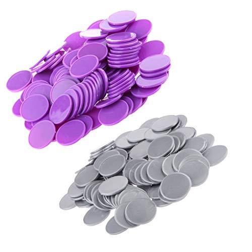 Baoblaze 200x Kunststoff Casino Poker Chips Bingo Marker Token Spaß Spielzeug Geschenk