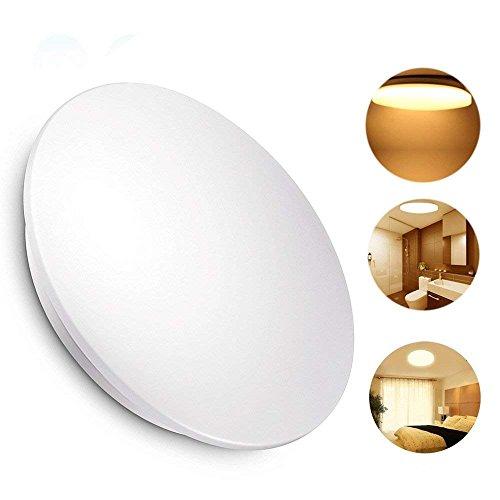 KWODE 18W LED Deckenleuchte, Warmweiss 3000K Deckenlampe Deckenbeleuchtung, IP44 Rund Badezimmerleuchte Badezimmerlampe Badlampe ideal für Badezimmer Balkon Flur Bad Küche