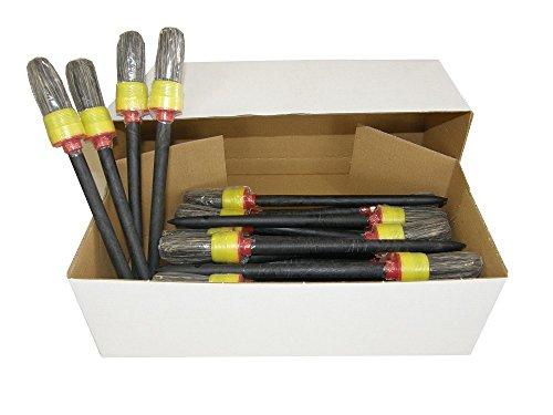 30 x TOP Ringpinsel in Größe 4, Ringpinsel Made in Germany, kein China-Import, Rundpinsel, Maler Pinsel Borsten, Lackierpinsel