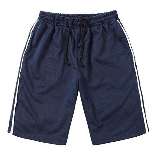 QinMM Herren Sport Shorts Fitness Jogging Laufhose Elastische Taille Freizeithose Sommer Shorts Hosen Täglich Casual Schwarz Grau Dunkelgrau Navy M-2XL (XL, Marine)