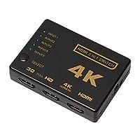 محول HDMI من Star 5 منافذ HDMI 5 في 1 مع محول HDMI لاسلكي تحت الحمراء يدعم كامل ثلاثي الأبعاد 4k x 2k لتلفزيون HDTV/DVD/STB/PC