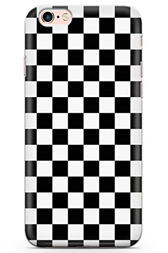 5f8a4f10d16a4 iPhone 6 Case, iPhone 6s Black Checkered Phone Case by Casechimp® | Clear  Ultra Thin Lightweight Gel Silicon TPU Protective Cover | Checkerboard ...