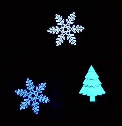 Glowing Christmas Jumper Kit - Electroluminescent Snowflake & Christmas Tree Set - 3 EL panels + Adjustable, Sequencer Driver Christmas Tree Jumper