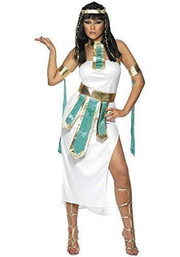 Kleopatra ägyptisch Königin Antike Göttin Juwel des Nils historisch Kostüm Kleid Outfit - Weiß, 8-10 (Nil Göttin Kostüm)